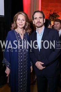 Queen Noor, Matt Dillon. Photo by Tony Powell. RI 38th Anniversary Dinner. Mellon Auditorium. April 25, 2017