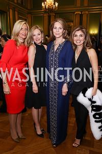 Maria Trabocchi, Mariella Trager, Queen Noor, Yasmine Pahlavi. Photo by Tony Powell. RI 38th Anniversary Dinner. Mellon Auditorium. April 25, 2017