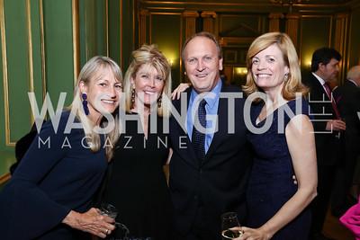 Amy Tercek, Ginny Grenham, Kevin Sullivan and Mary Jordan. Photo by Tony Powell. RI 38th Anniversary Dinner. Mellon Auditorium. April 25, 2017