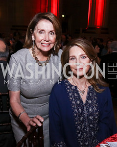 Leader Nancy Pelosi, Queen Noor. Photo by Tony Powell. RI 38th Anniversary Dinner. Mellon Auditorium. April 25, 2017