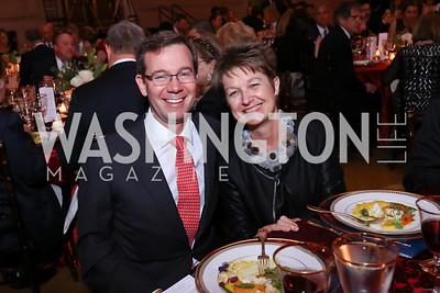 Robert Allbritton, Dorothy Kosinski. Photo by Tony Powell. RI 38th Anniversary Dinner. Mellon Auditorium. April 25, 2017