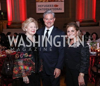 Beth Newburger Schwartz, Mark Lowham, Annie Totah. Photo by Tony Powell. RI 38th Anniversary Dinner. Mellon Auditorium. April 25, 2017