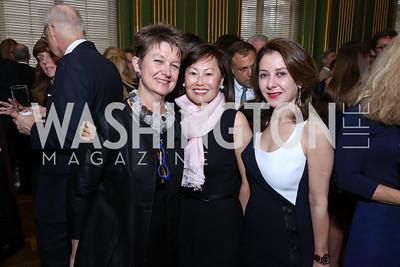 Dorothy Kosinski, Janice Kim, Farinaz Akhavan. Photo by Tony Powell. RI 38th Anniversary Dinner. Mellon Auditorium. April 25, 2017