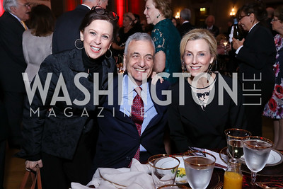 Robin Wright, Peter Ackerman, Katherine Bradley. Photo by Tony Powell. RI 38th Anniversary Dinner. Mellon Auditorium. April 25, 2017