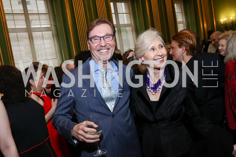 Michael Olding, Willee Lewis. Photo by Tony Powell. RI 38th Anniversary Dinner. Mellon Auditorium. April 25, 2017