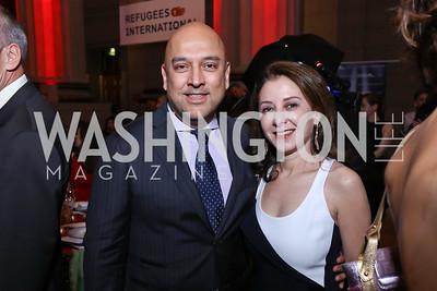 Dadi and Farinaz Akhavan. Photo by Tony Powell. RI 38th Anniversary Dinner. Mellon Auditorium. April 25, 2017