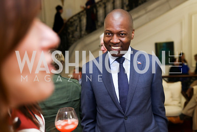 Haiti Amb. Paul Altidor. Photo by Tony Powell. Restore Mass Ave. 10th Anniversary. Embassy of Haiti. May 10, 2017