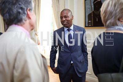 Haiti Amb. Paul Altidor. Photo by Tony Powell. Restore Mass Ave. 10th Anniversary. Embassy of Haiti. May 10, 2017