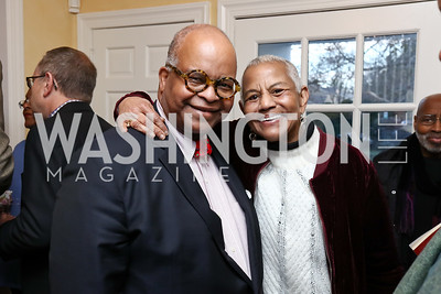 "Riley Temple, Peggy Cooper-Cafritz. Photo by Tony Powell. Riley Temple ""Aunt Ester's Children Redeemed"" Book Party. Bush Residence. March 11, 2017"