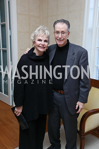 "Susan Lee and Stephen Saltzburg. Photo by Tony Powell. Riley Temple ""Aunt Ester's Children Redeemed"" Book Party. Bush Residence. March 11, 2017"