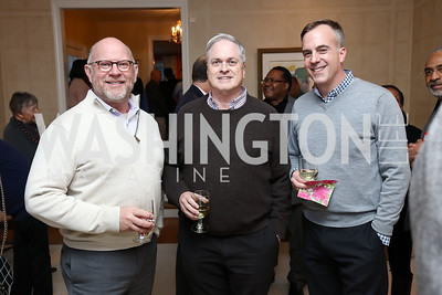 "Tim Schoeffler, Bob Witeck, Bob Connelly. Photo by Tony Powell. Riley Temple ""Aunt Ester's Children Redeemed"" Book Party. Bush Residence. March 11, 2017"