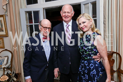 """Finlay Lewis, Michael Pillsbury, Susan Pillsbury. Photo by Tony Powell. Sally Bedell Smith """"Prince Charles"""" Book Party. Carl Residence. April 8, 2017"""