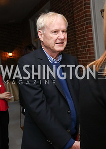 """Chris Matthews. Photo by Tony Powell. Sally Bedell Smith """"Prince Charles"""" Book Party. Carl Residence. April 8, 2017"""