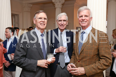 "Stephen Smith, C. Boyden Gray, Fred Ryan. Photo by Tony Powell. Sally Bedell Smith ""Prince Charles"" Book Party. Carl Residence. April 8, 2017"