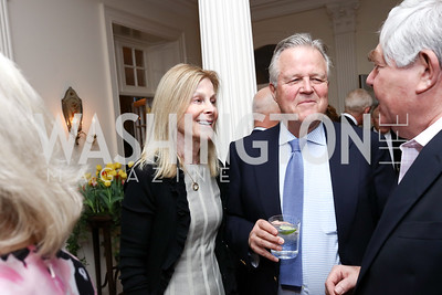 "Eileen Shields West and Robin West. Photo by Tony Powell. Sally Bedell Smith ""Prince Charles"" Book Party. Carl Residence. April 8, 2017"