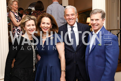 "Christie Weiss, Nancy Rosebush, James Rosebush, Jeff Weiss. Photo by Tony Powell. Sally Bedell Smith ""Prince Charles"" Book Party. Carl Residence. April 8, 2017"