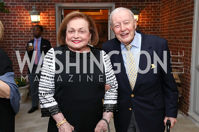 """Shirley and Albert Small. Photo by Tony Powell. Sally Bedell Smith """"Prince Charles"""" Book Party. Carl Residence. April 8, 2017"""