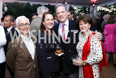"""Lee Verstandig, Jill and Jerry Howe, Toni Verstandig. Photo by Tony Powell. Sally Bedell Smith """"Prince Charles"""" Book Party. Carl Residence. April 8, 2017"""