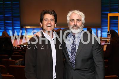 "Mark Shriver, Max Kennedy. Photo by Tony Powell. ""Sea of Hope"" Premiere Screening. National Geographic. January 5, 2017"