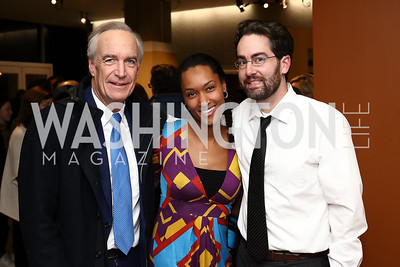 """Dirk Kempthorne, Dawn and John Mein. Photo by Tony Powell. """"Sea of Hope"""" Premiere Screening. National Geographic. January 5, 2017"""
