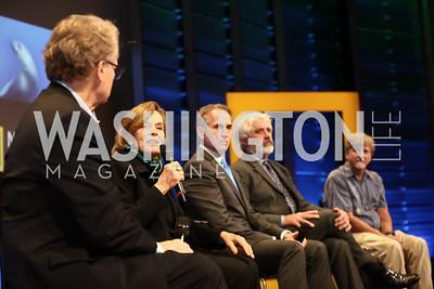 "Bob Nixon, Sylvia Earle, Brian Skerry, Max Kennedy, Richard Pyle. Photo by Tony Powell. ""Sea of Hope"" Premiere Screening. National Geographic. January 5, 2017"