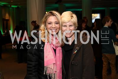 "Catherine Kendall, Alexandra Tydings. Photo by Tony Powell. ""Sea of Hope"" Premiere Screening. National Geographic. January 5, 2017"