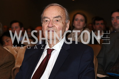"""Sen. Harris Wofford. Photo by Tony Powell. """"Sea of Hope"""" Premiere Screening. National Geographic. January 5, 2017"""