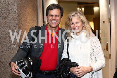 """Tim Shriver and Linda Potter. Photo by Tony Powell. """"Sea of Hope"""" Premiere Screening. National Geographic. January 5, 2017"""