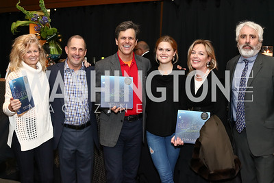 """Linda Potter, Michael Trager, Mark Shriver, Kathleen Shriver, Mariella Trager, Max Kennedy. Photo by Tony Powell. """"Sea of Hope"""" Premiere Screening. National Geographic. January 5, 2017"""