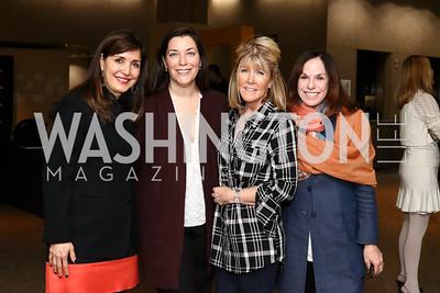 "Cintia Guimaraes, Sarah Nixon, Ginny Grenham, Carole Feld. Photo by Tony Powell. ""Sea of Hope"" Premiere Screening. National Geographic. January 5, 2017"