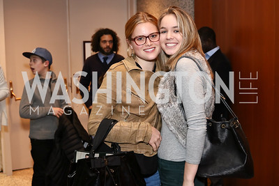 """Kathleen Shriver, Saoirse Kennedy. Photo by Tony Powell. """"Sea of Hope"""" Premiere Screening. National Geographic. January 5, 2017"""