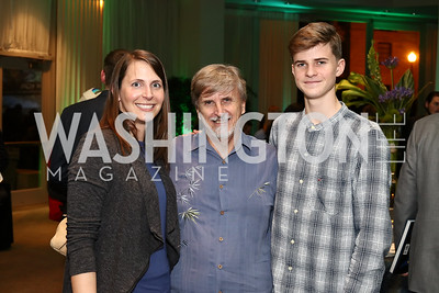 """Chiara Zuccarino-Crowe, Richard Pyle and Owen Pyle. Photo by Tony Powell. """"Sea of Hope"""" Premiere Screening. National Geographic. January 5, 2017"""