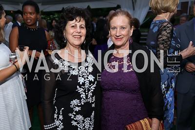 Gail Roache, Nancy Coyle. Photo by Tony Powell. Enchanted Garden. Mafi Residence. June 2, 2017