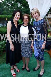 Lynn Gagnon, Shahin Mafi, Liz Klass. Photo by Tony Powell. Enchanted Garden. Mafi Residence. June 2, 2017