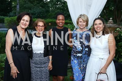 Lynn Gagnon, Shahin Mafi, Changu Newman, Liz Klass, Brigitte Bachtiger. Photo by Tony Powell. Enchanted Garden. Mafi Residence. June 2, 2017
