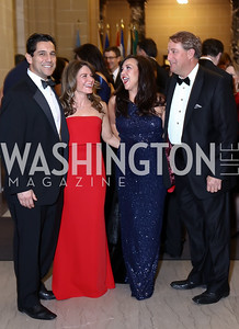 George and Rosina Aguiar, Jennifer and Dave Whipp. Photo by Tony Powell. 2017 Sister Cities Inaugural Gala. OAS. January 17, 2017