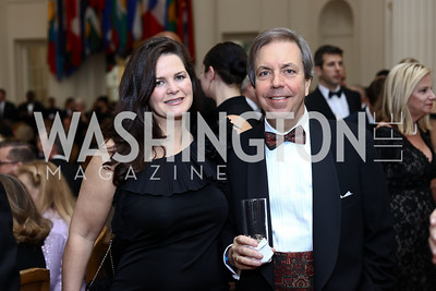 Suzanne Duvall and Chip Stelljes. Photo by Tony Powell. 2017 Sister Cities Inaugural Gala. OAS. January 17, 2017