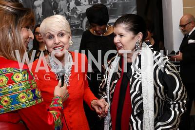 Jan Du Plain, Judith Terra. Photo by Tony Powell. 2017 Sister Cities Inaugural Gala. OAS. January 17, 2017
