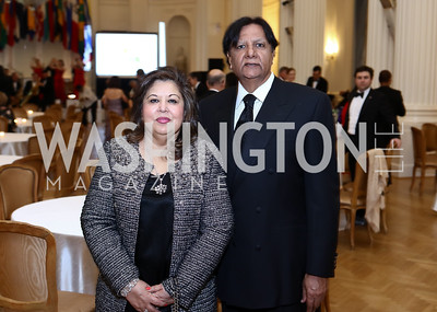 Shaista Mahmood, Ray Mahmood. Photo by Tony Powell. 2017 Sister Cities Inaugural Gala. OAS. January 17, 2017