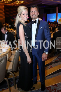 Allyson and Paul Medina. Photo by Tony Powell. Spanish Catholic Center 50th Anniversary. Marriott Marquis. September 30, 2017