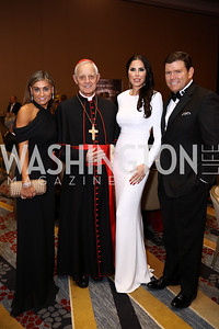 Karen Donatelli, Archbishop of Washington Cardinal Donald Wuerl, Amy and Bret Baier. Photo by Tony Powell. Spanish Catholic Center 50th Anniversary. Marriott Marquis. September 30, 2017