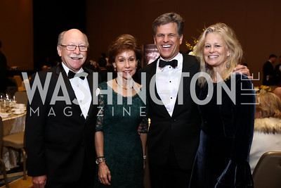 Colombia Amb. Camilo Reyes and Gloria de Reyes, Linda Potter and Tim Shriver. Photo by Tony Powell. Spanish Catholic Center 50th Anniversary. Marriott Marquis. September 30, 2017