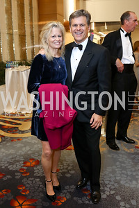 Linda Potter and Tim Shriver. Photo by Tony Powell. Spanish Catholic Center 50th Anniversary. Marriott Marquis. September 30, 2017