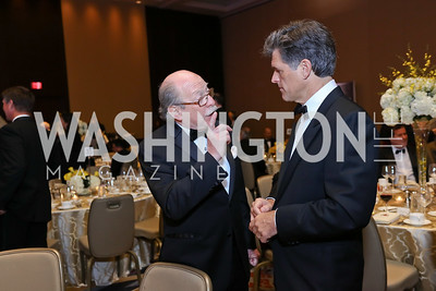 Colombia Amb. Camilo Reyes, Tim Shriver. Photo by Tony Powell. Spanish Catholic Center 50th Anniversary. Marriott Marquis. September 30, 2017