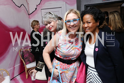Barbara Januszkiexicz, Kate Damon, Gloria Nauden. Photo by Tony Powell. 2017 Superfierce. Blind Whino. October 5, 2017