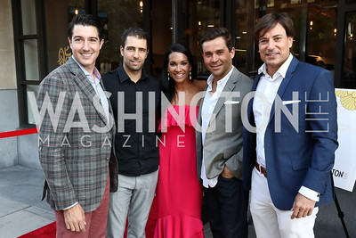 Matthew Mueller, Fabian LeFevre, Bethany Kazaba, Antonio Alves, David Tafuri. Photo by Tony Powell. Sushi Gayku Opening. June 26, 2017
