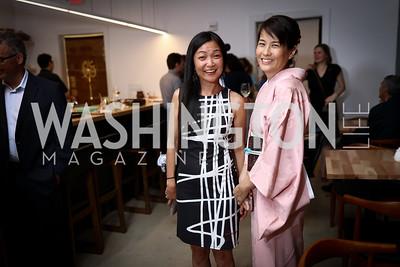 Mahoko Eguchi, Yoko Ota. Photo by Tony Powell. Sushi Gayku Opening. June 26, 2017