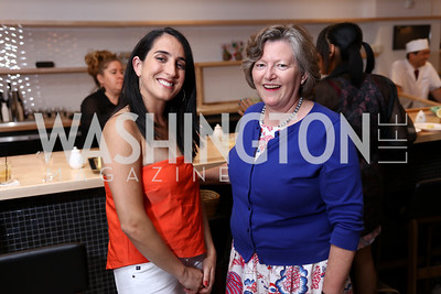 Catherine Trifiletti, Amanda Downes. Photo by Tony Powell. Sushi Gayku Opening. June 26, 2017