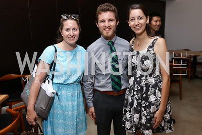 Laura Wainman, Zachary Barnes, Lani Furbank. Photo by Tony Powell. Sushi Gayku Opening. June 26, 2017