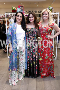 Catherine Trifiletti, Sally Rey, Erica Moody. Photo by Tony Powell. Tadashi Shoji Washington Life Event. March 30, 2017